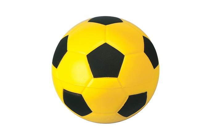 Fussball Nr. 4, gelb-schwarz