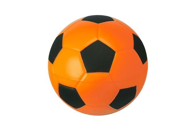 Fussball Nr. 4, orange-schwarz