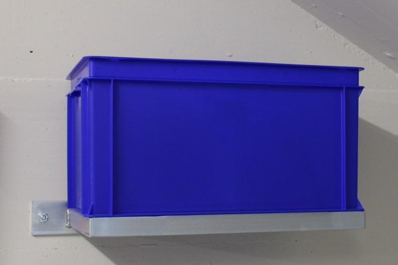 Wandhalter für Kunststoffbehälter